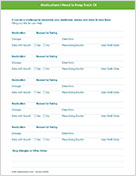 Medication Tracker downloadable PDF